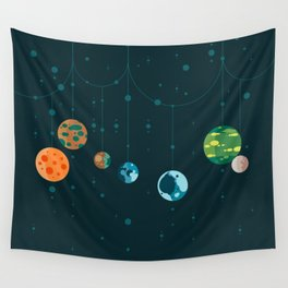 Seven Planets Wall Tapestry