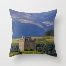 Castle Stalker Argyll, Scotland Throw Pillow