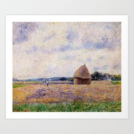 Haystack Eragny 1885 By Camille Pissarro | Reproduction | Impressionism Painter Art Print