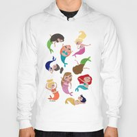 mermaids Hoodies featuring Baby Mermaids by Jeca Martinez