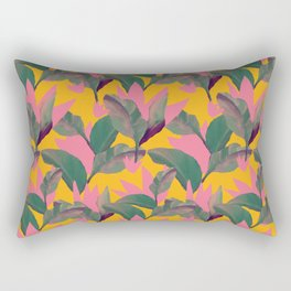 Retro Luxe Lilies Pattern Rectangular Pillow