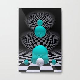 go turquoise -8- Metal Print
