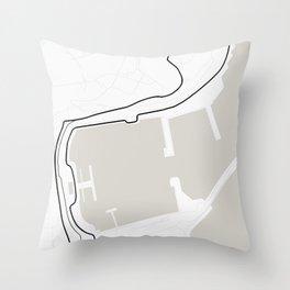 Monaco Street Circuit -  Circuit De Monaco Throw Pillow