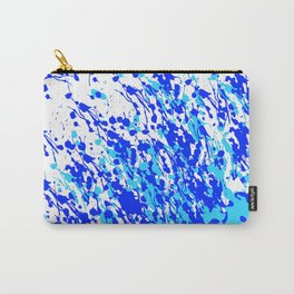 Splash and Drip Art Blue Carry-All Pouch