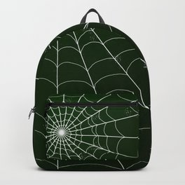 Spiderweb on Emerald Backpack