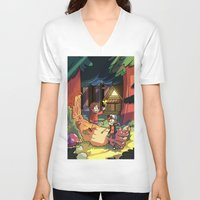 gravity falls V-neck T-shirts featuring Gravity Falls by Izzy