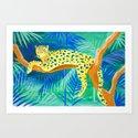 Leopard on Tree by sunlee_art