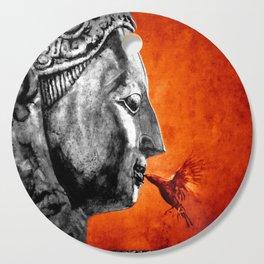 BUDDHA KISS - frame orange black version Cutting Board