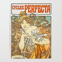 Cycles Perfecta by Alphonse Mucha, 1902 Poster