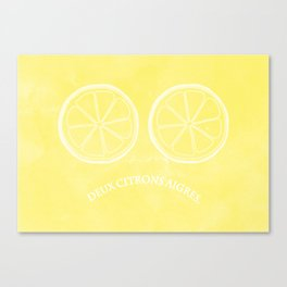 Two Lemons. Canvas Print
