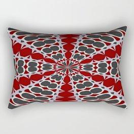 Red Black White Pattern Rectangular Pillow