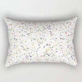 Classy vintage marble terrazzo pastel abstract design Rectangular Pillow