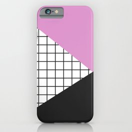 Geometry: black, pink and squres iPhone Case