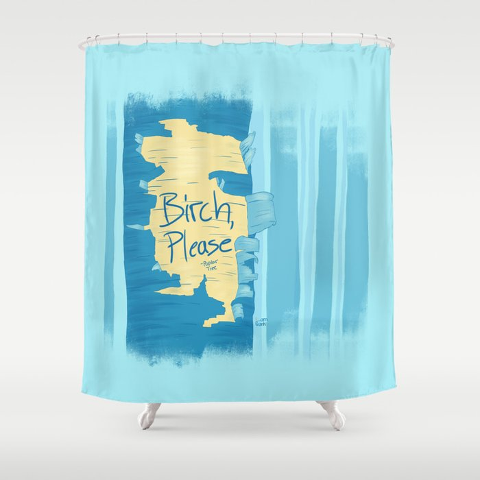 Birch, Please Shower Curtain