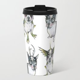Ledge with antlers black lagoon combo Travel Mug