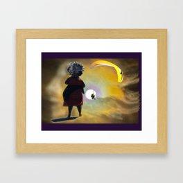 Moon Glide Framed Art Print