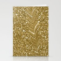 gold glitter Stationery Cards featuring GLITTER GOLD by isoncaDesign