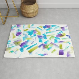 180719 Koh-I-Noor Watercolour Abstract 15 | Watercolor Brush Strokes Rug