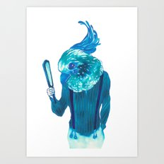 Baby Blue #1 Art Print