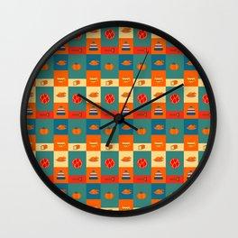 Dinner pattern Wall Clock