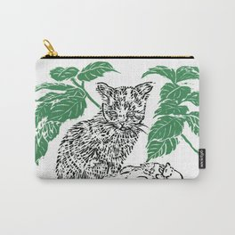 woodblock print Carry-All Pouch