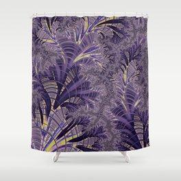 Violet Fractal Shower Curtain