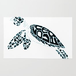 Calligram Sea Turtle Rug