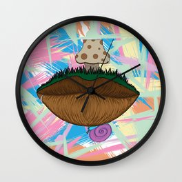 Trippy Lippy Wall Clock