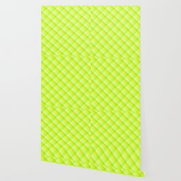 Striped green and yellow cross pattern Wallpaper