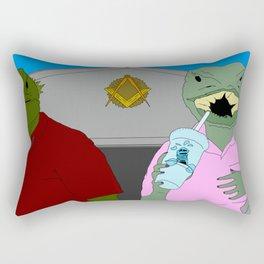 Lizard Gossip Rectangular Pillow