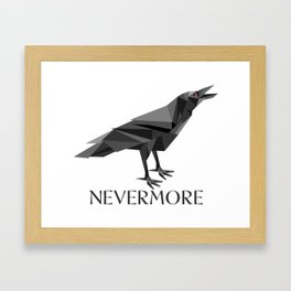 NEVERMORE RAVEN Framed Art Print