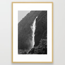 Waterfall into the Valley Framed Art Print