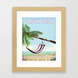 puerto rico hammock beach poster Framed Art Print