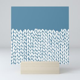 Half Knit Blue Mini Art Print