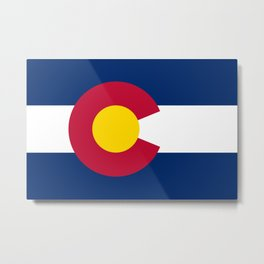Colorado flag - High Quality image Metal Print