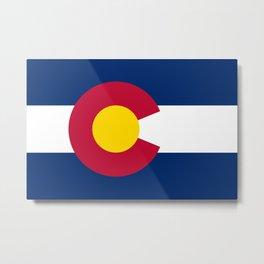 Colorado flag - High Quality image Metal Print