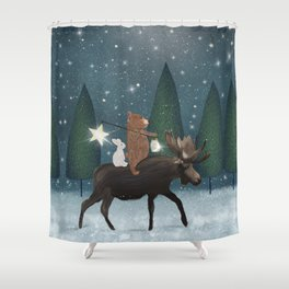 the elder moose Shower Curtain