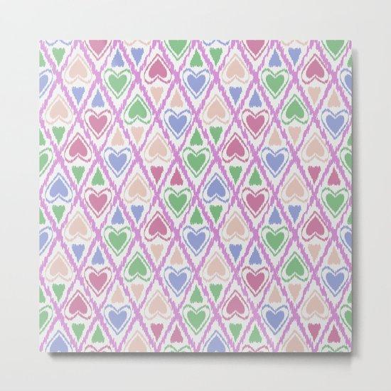 Favorite pattern . Brown, pink , green . Metal Print