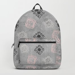 Contemporary Concrete Grid Pattern Backpack