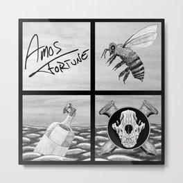 Amos Fortune Bees & Seas Grid Metal Print