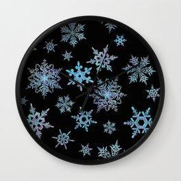 """Embroidered"" Snowflakes Wall Clock"