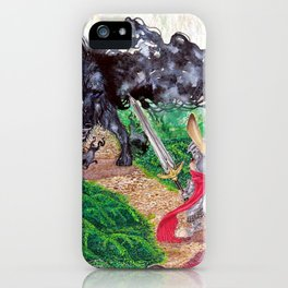 The beast and the knight iPhone Case