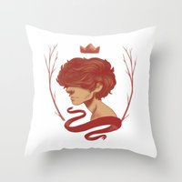 cargline Throw Pillows featuring King Harry by cargline