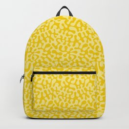 Yellow art, Spring fresh yellow abstract curves for 2021 inspired by Matisse Backpack