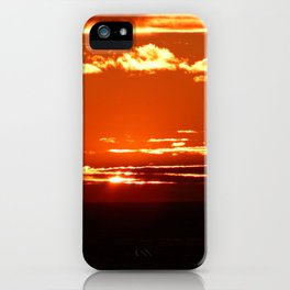 Red Gold Sunset in the Clouds iPhone Case
