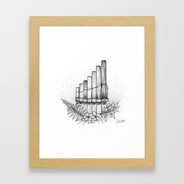 Pan Flute Framed Art Print