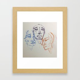 3's Framed Art Print