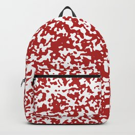 Small Spots - White and Firebrick Red Backpack