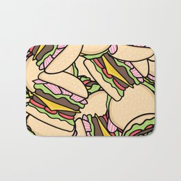 Burgers! Bath Mat