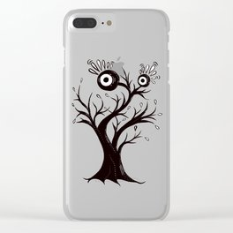Weird Tree Monster Ink Drawing Clear iPhone Case
